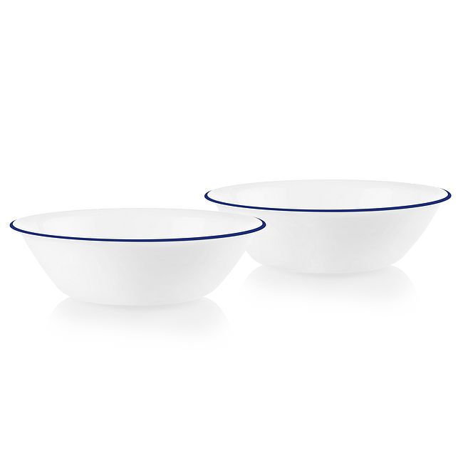 Brilliant Blue Banded 2-quart Serving Bowls, 2-pack