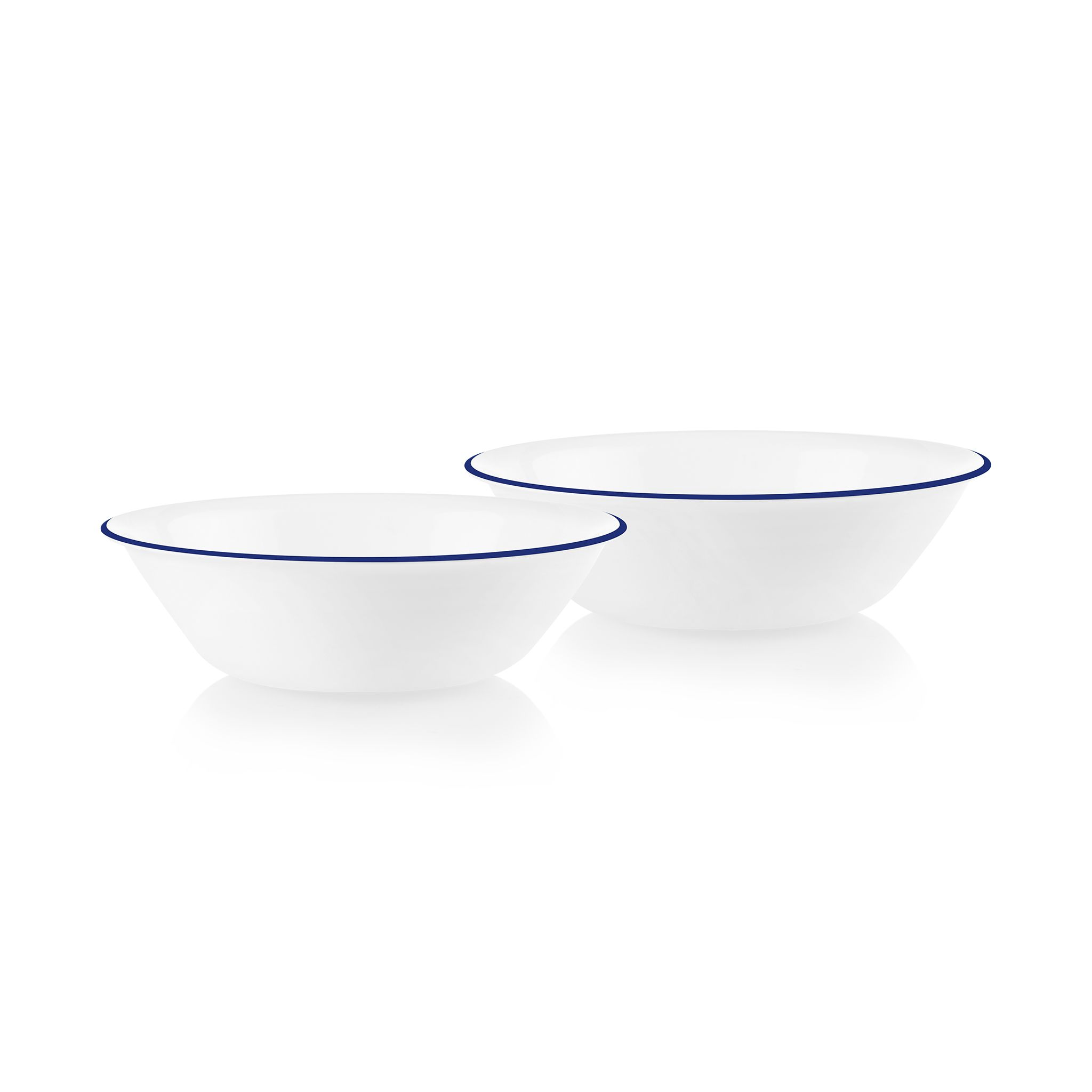 Brilliant Blue Banded 1-quart Serving Bowls, 2-pack