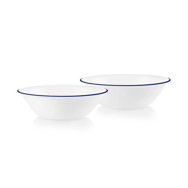 Brilliant Blue Banded 1-quart Serving Bowls, 2-pack