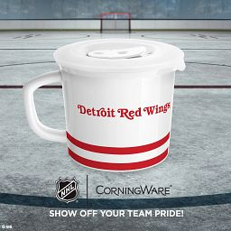 """NHL® Detroit Red Wings® 20-oz Meal Mug™, Al the Octopus™ with text """"show off your team with pride"""""""