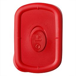 Pro 1.875 Cup Rectangle Vented Plastic Lid  Red