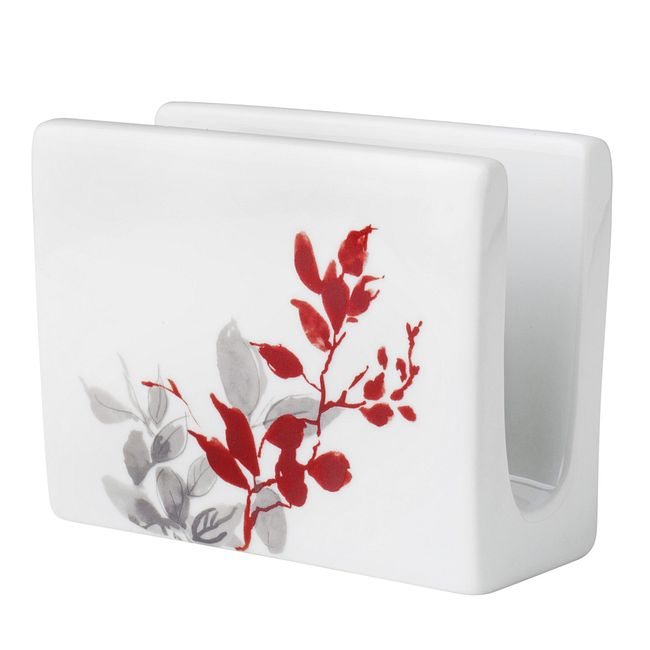 Napkin Holder Coordinates w/ Corelle Kyoto Leaves