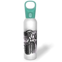 Textural Art 17.5-oz Glass Water Bottle with Silicone Coating