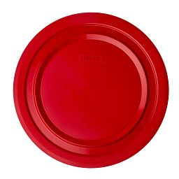 4.5-qt Round Plastic Lid  Red