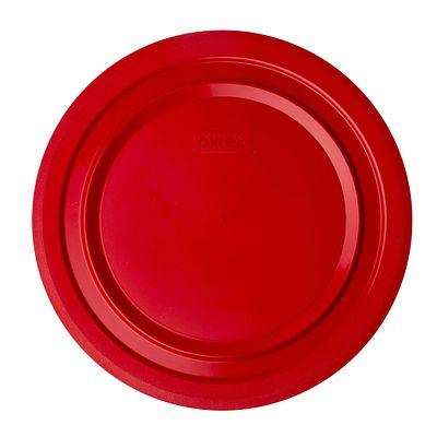 Pyrex 4.5-Qt Round Plastic Lid, Red