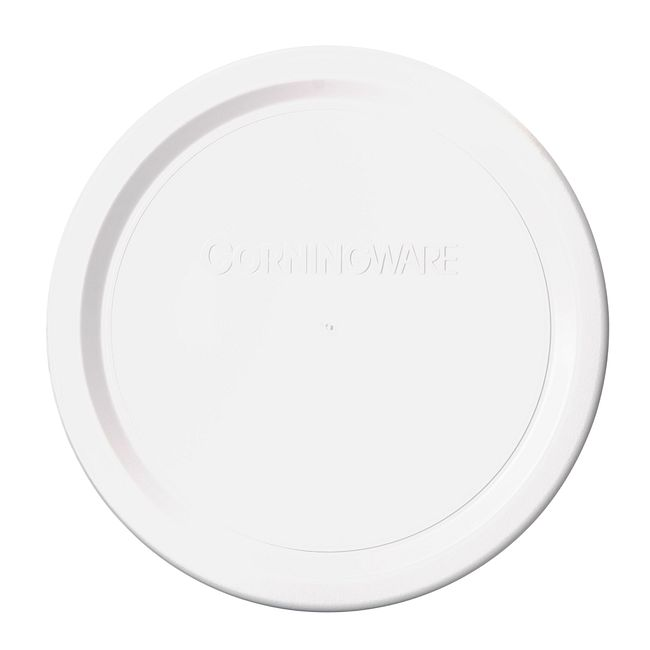 French White Plastic Lid for 16-ounce Baking Dish
