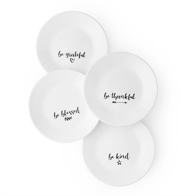 "Sentiments 6.75"" Appetizer Plate, Set of 4"