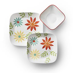 Square Happy Days 18-pc Dinnerware Set Top View