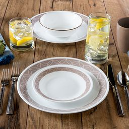 Sand Sketch 16-pc Dinnerware Set on the Table