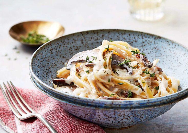 Mushroom-Mascarpone Pasta