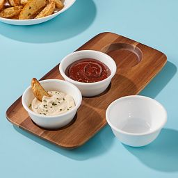 Coordinates Small Dip Tray Set with food in bowls