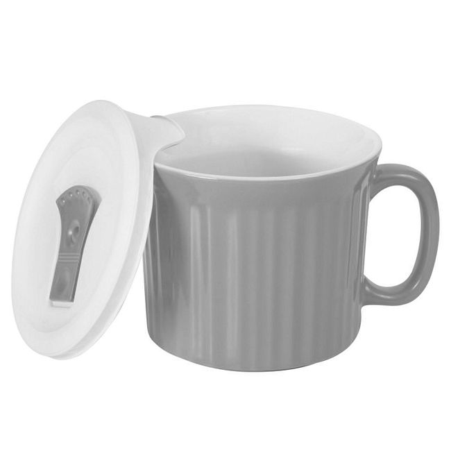 20-ounce Gray Meal Mug™ with Lid