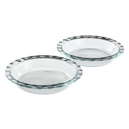 Easy Grab Glass Pie Plate, 2-pack