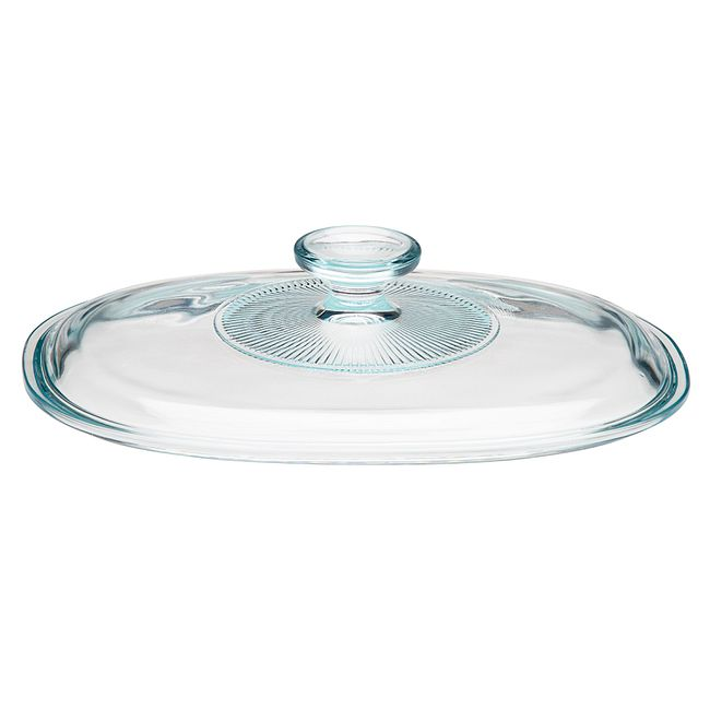 French White Glass Lid for 1.5-quart Baking Dish