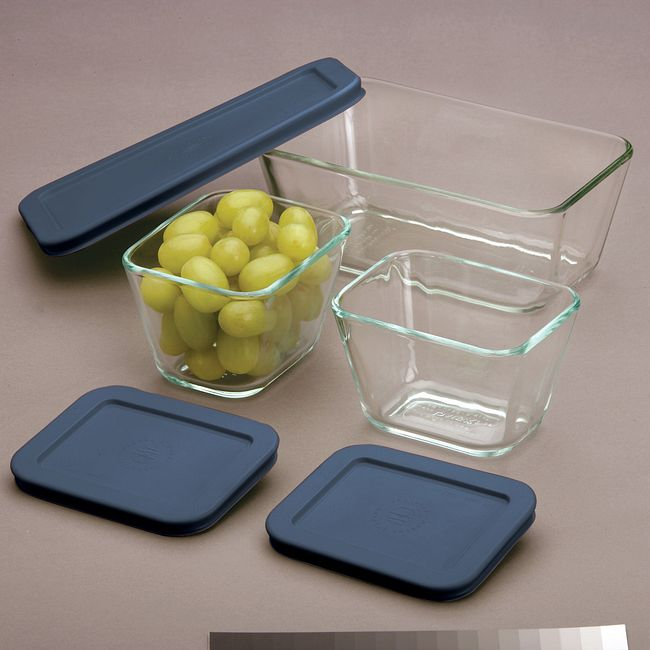 6-Piece Glass Food Storage Container Set