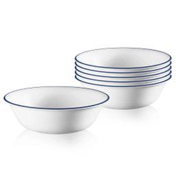 Artemis 18-ounce Blue Rimmed Bowls
