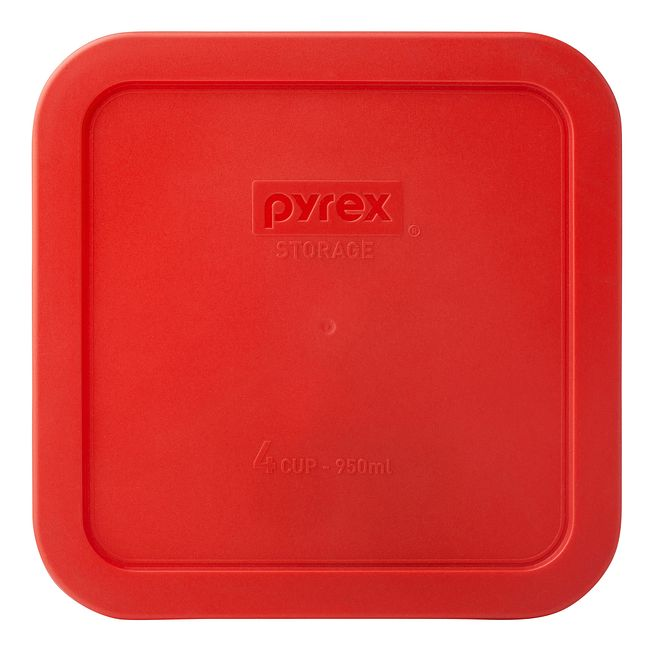 Red Lid for 4-cup Glass Food Storage Container