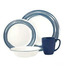 Boutique™ Brushed 16-pc Dinnerware Set  Cobalt Blue