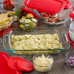 Easy Grab Prep, Bake 'N Store 28-pc Set shown with food inside