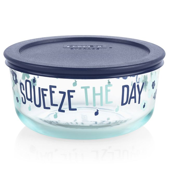 Squeeze the Day 4-cup Glass Food Storage Container (Lid Sold Separately)