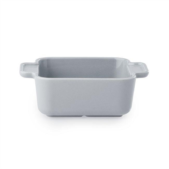 Modern Ash Stoneware Square Cocotte / Casserole