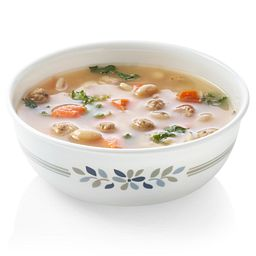 Signature Prairie Garden Grey 16-oz bowl with Soup