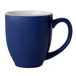 Vive™ 13-oz Blue & White Stoneware Mug Coordinates with Indigo Speckle