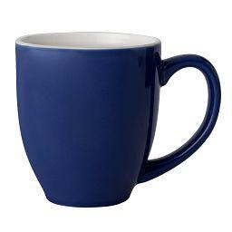 Vive™ 13-oz Blue & White Stoneware Mug Coordinates with Indigo Speckle