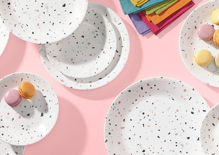 multi color corelle patterns