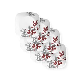 "Kyoto Leaves 9"" Salad Plates, 6-pack"