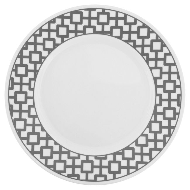 Urban Grid 16-piece Dinnerware Set, Service for 4