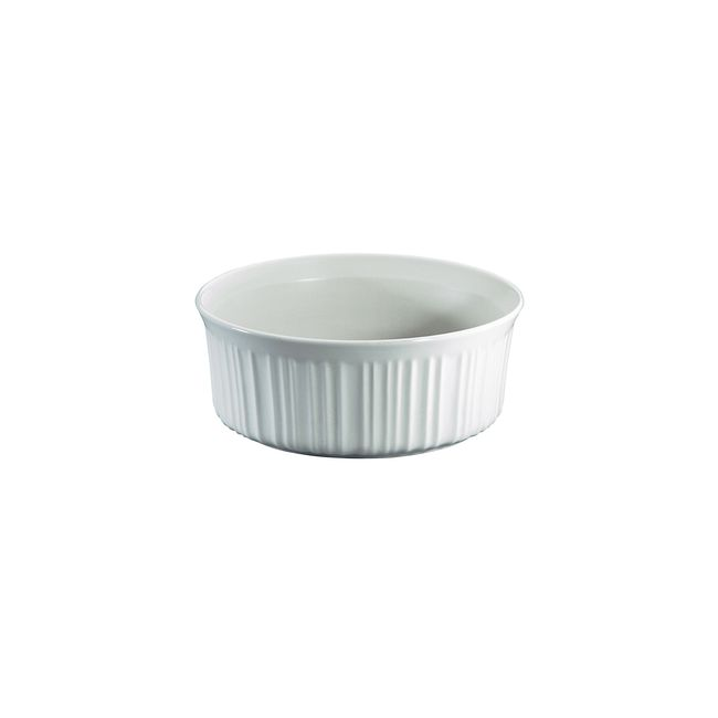 French White 2.5-qt Round Casserole