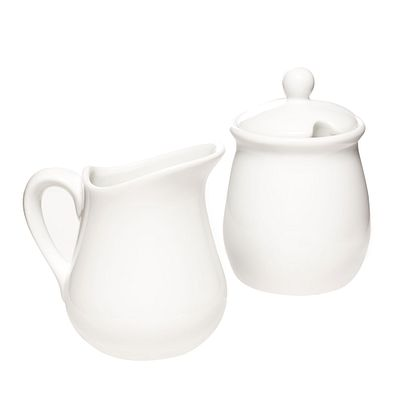 White Sugar & Creamer Set