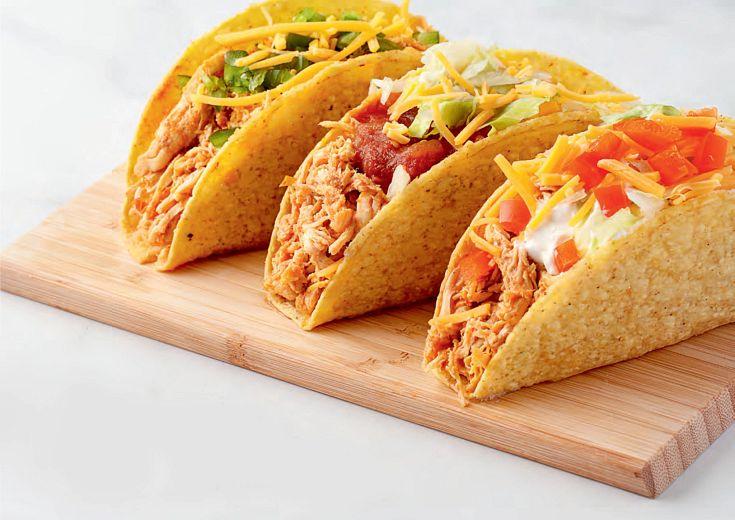 fiesta chicken tacos on table