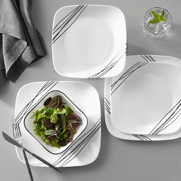 Square Simple Sketch 18-pc Dinnerware Set on the table