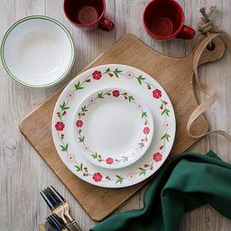 Livingware™ Spring Pink 16-pc Dinnerware Setting on the Table