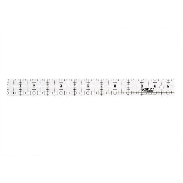 1.25″ x 12.5″ Square Frosted Acrylic Ruler (QR-1X12)