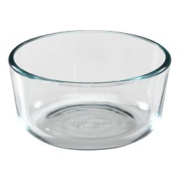 2 Cup Round Clear Glass Bowl