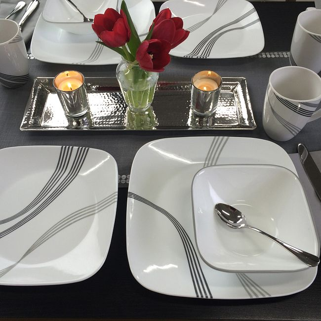 Urban Arc 16-piece Dinnerware Set, Service for 4