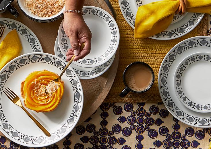 Corelle dinnerware sets on tabletop