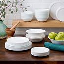 Livingware Winter Frost White 78-pc Dinnerware Set