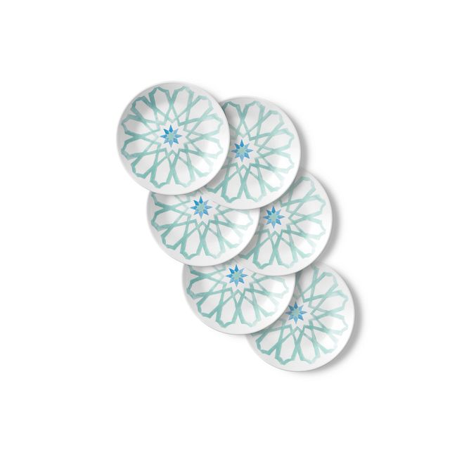 "Amalfi Verde 6.75"" Appetizer Plates, 6-pack"