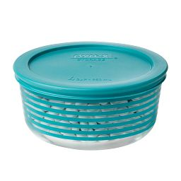 4 Cup Turquoise Lane Storage Dish with Candy Inside