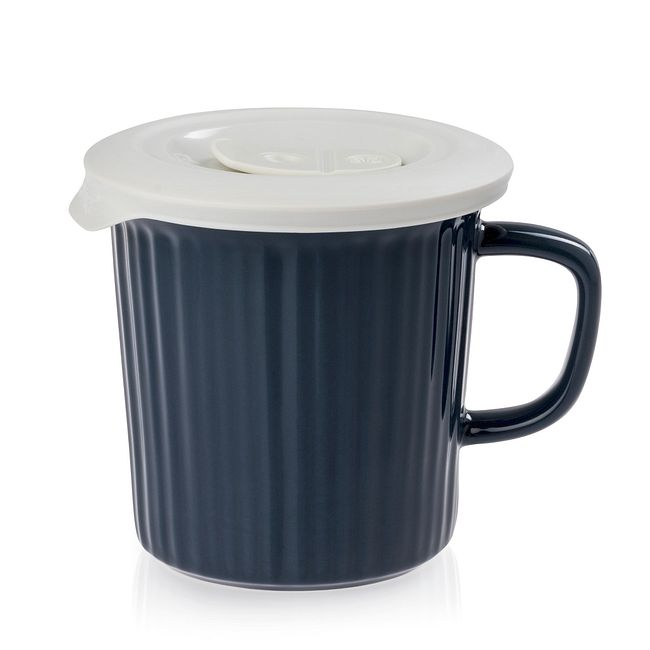 Midnight Blue 24-ounce Meal Mug™ with White Lid