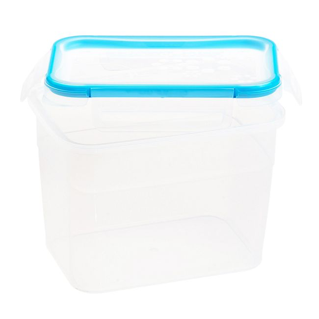 Total Solution Plastic Food Storage with Lid 7.58-cup, Rectangle