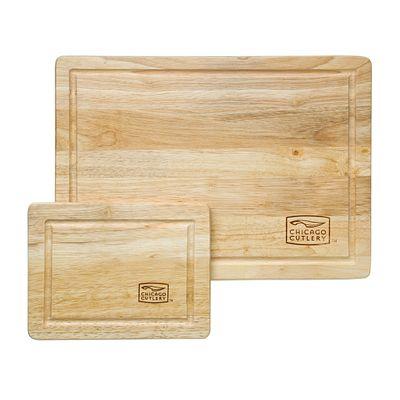 Woodworks Rubberwood 2-piece Cutting Board Set