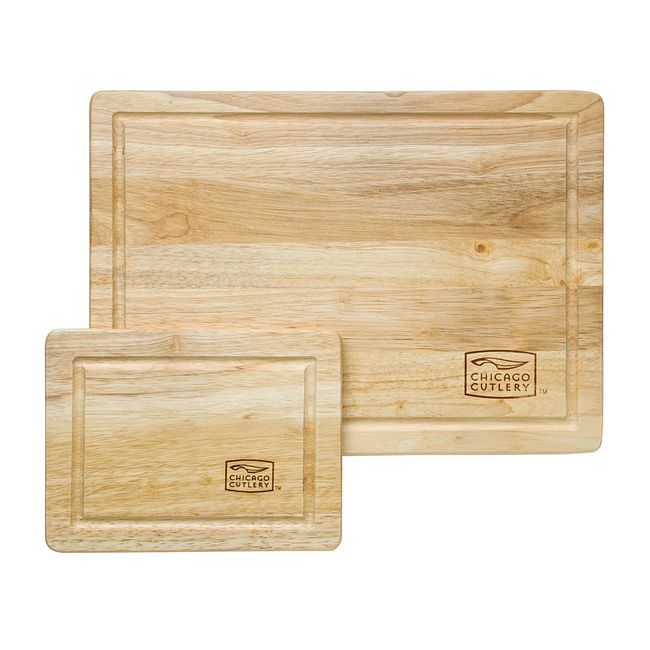 Woodworks Rubberwood 2-piece Cutting Board Set