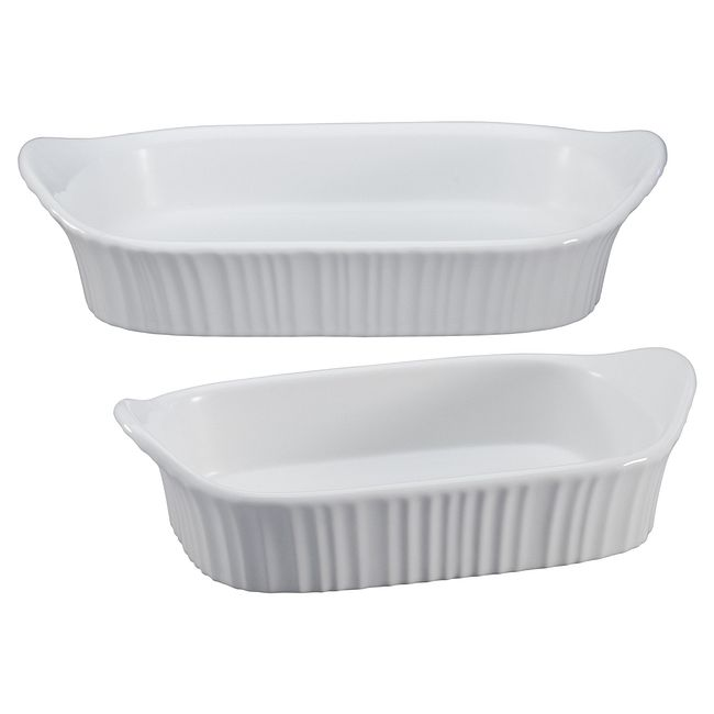 French White 2-piece Bakeware Set