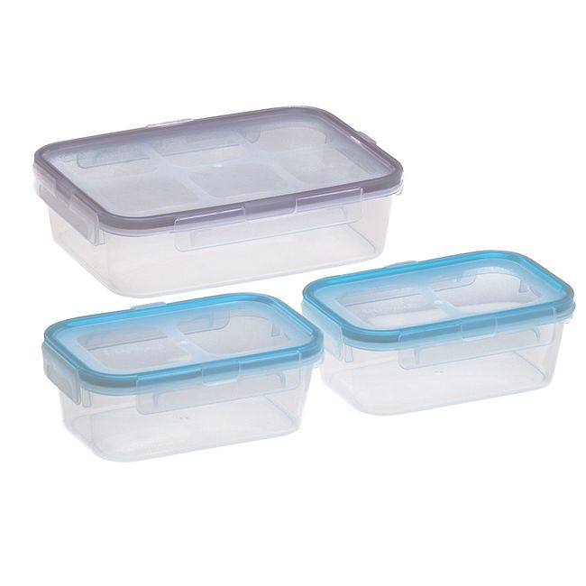 Airtight 6-piece Plastic Food Storage Container Set