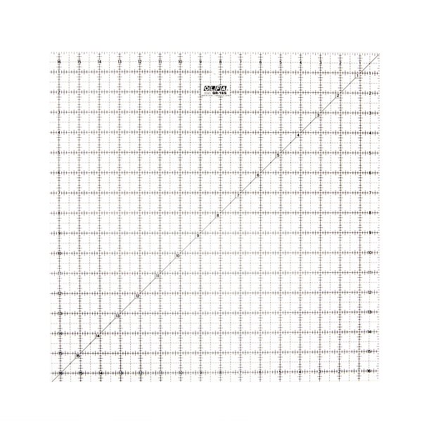 16-1/2″ Square Frosted Acrylic Ruler (QR-16S)